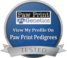 Tested by Paw Print Genetics!